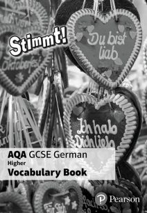Stimmt! AQA GCSE German Higher Vocab Book (pack of 8) - Pearson Education Limited
