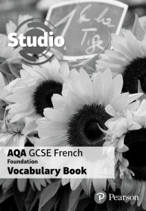 Studio AQA GCSE French Foundation Vocabulary Book (pack of 8) - Pearson Education Limited
