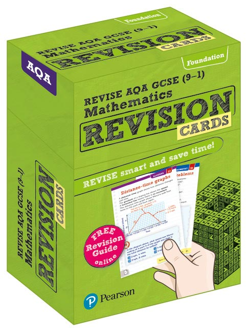 Revise AQA GCSE (9-1) Mathematics Foundation Revision Cards: includes FREE  online Revision Guide