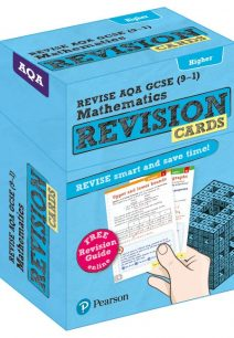 Revise AQA GCSE (9-1) Mathematics Higher Revision Cards: with free online Revision Guide - Pearson Education Limited