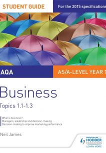 AQA AS/A Level Business Student Guide 1: Topics 1.1-1.3 - Neil James